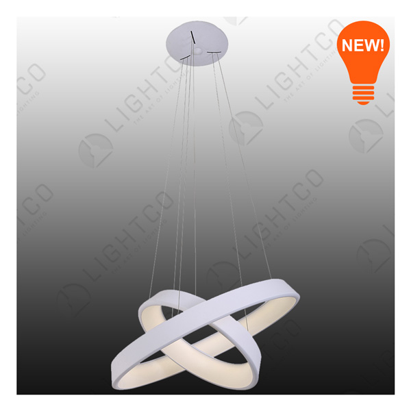 PENDANT LED DOUBLE RING LARGE 2380LUMENS