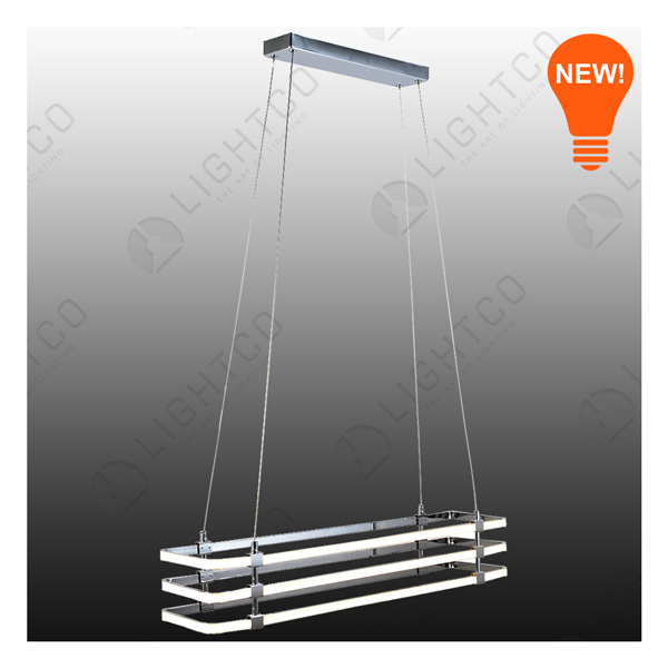 PENDANT LED 3 TIER RECTANGLE
