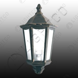 LANTERN HALF WALL 3 PANEL CLEAR GLASS