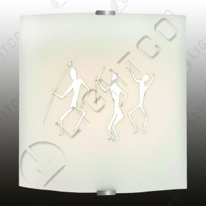 WALL LIGHT DECORATIVE SATIN CLIPS & BUSHMAN