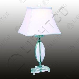 TABLE LAMP ACRYLIC + WHITE SHADE