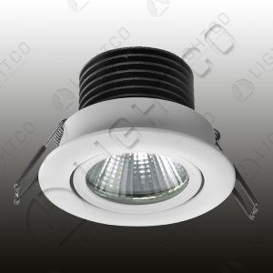 DOWNLIGHT LED DIMMABLE TILT ROUND INCL. DRIVER