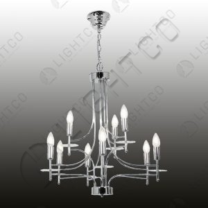 CHANDELIER 9 LIGHT WITH GLASS DETAIL