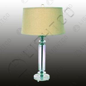 TABLE LAMP ACRYLIC + HESSIAN SHADE