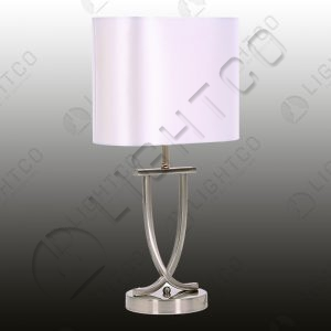 TABLE LAMP INCLUDING OVAL PEARL SHADE