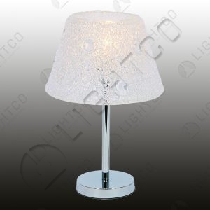 TABLE LAMP ROUND BASE + ACRYLIC SHADE