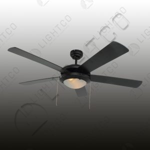 FAN 5 BLADE WITH SINGLE LIGHT AND PULL STRING CONTROL