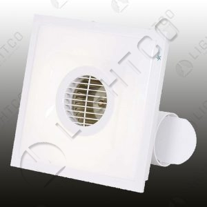 EXTRACTOR FAN SQUARE WITH LIGHT