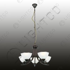CHANDELIER WROUGHT IRON 5 LIGHT RING