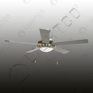FAN 5 BLADE REVERSIBLE BLADES WITH LIGHT