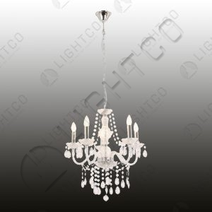 CHANDELIER 5 LIGHT ACRYLIC CRYSTALS