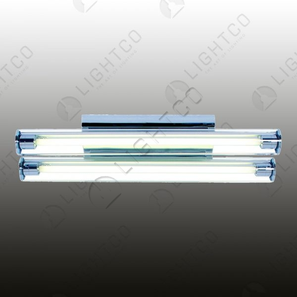 FLUORESCENT DOUBLE WITH GLASS COVER SHORT