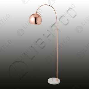 FLOOR LAMP ARCHED MARBLE BASE