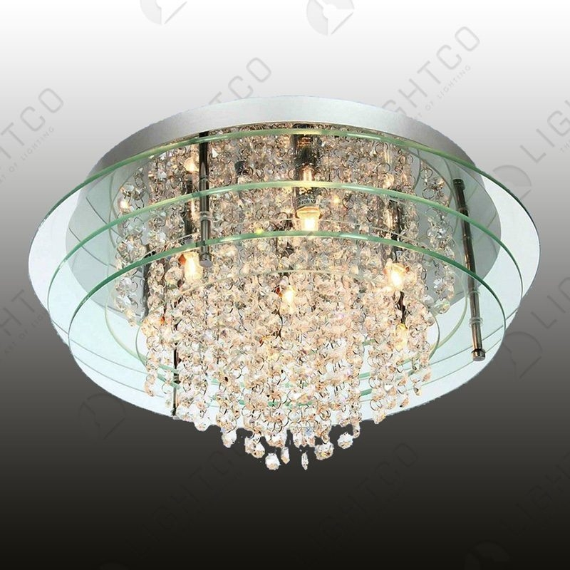 CEILING LIGHT DECORATIVE GLASS AND CRYSTAL