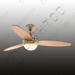 FAN 3 BLADE WITH SINGLE LIGHT AND REMOTE
