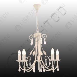 CHANDELIER 5 LIGHT CLEAR ACRYIC CRYSTALS