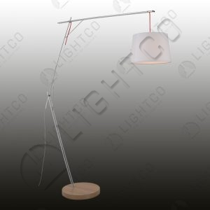 FLOOR LAMP CANTILEVER WITH WHITE SHADE