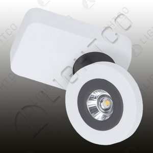 SPOTLIGHT LED SINGLE ADJUSTABLE ON RECTANGULAR BASE