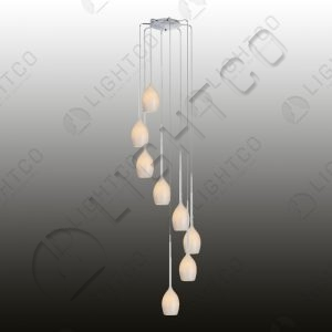 PENDANT 8 LIGHT SPIRAL
