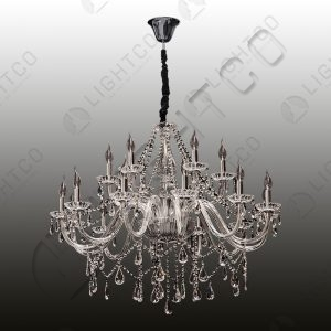 CHANDELIER 18 LIGHT K9 CRYSTAL