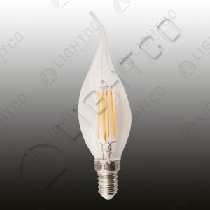 LED CANDLE 4W E14 CLEAR FLAME BRIGHTSTAR