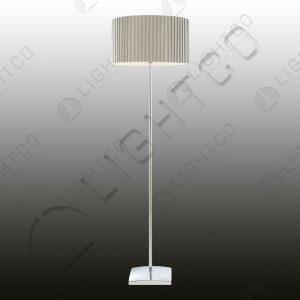 FLOOR LAMP WITH BOX PLEAT SHADE