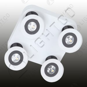 SPOTLIGHT LED QUAD ADJUSTABLE ON SQUARE BASE