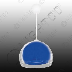 PENDANT ACRYLIC ROUND SHADE INSIDE ANOTHER