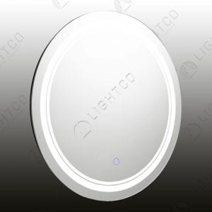 MIRROR LIGHT LED ROUND SMALL BLUE SWITCH