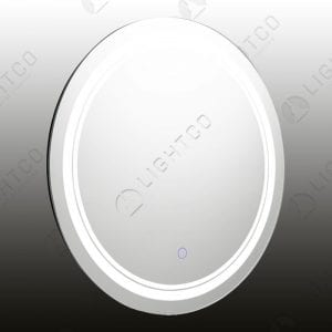 MIRROR LIGHT LED ROUND MEDIUM BLUE SWITCH