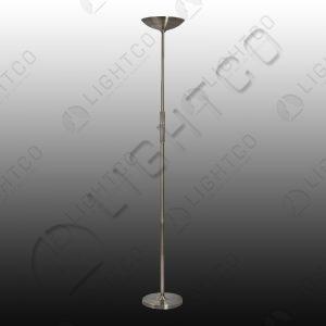 FLOOR LAMP LED SATIN CHROME C/W DIMMER