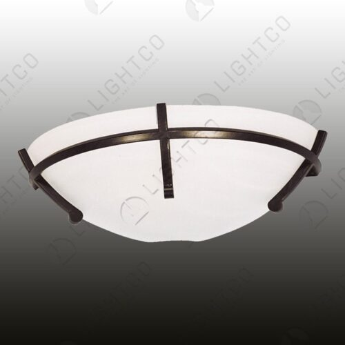WALL LIGHT ALABASTER GLASS IN WROUGHT IRON