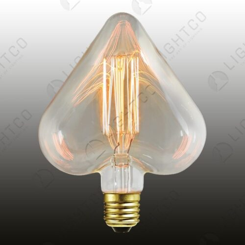 FILAMENT LAMP 40W ES HEART CAGE