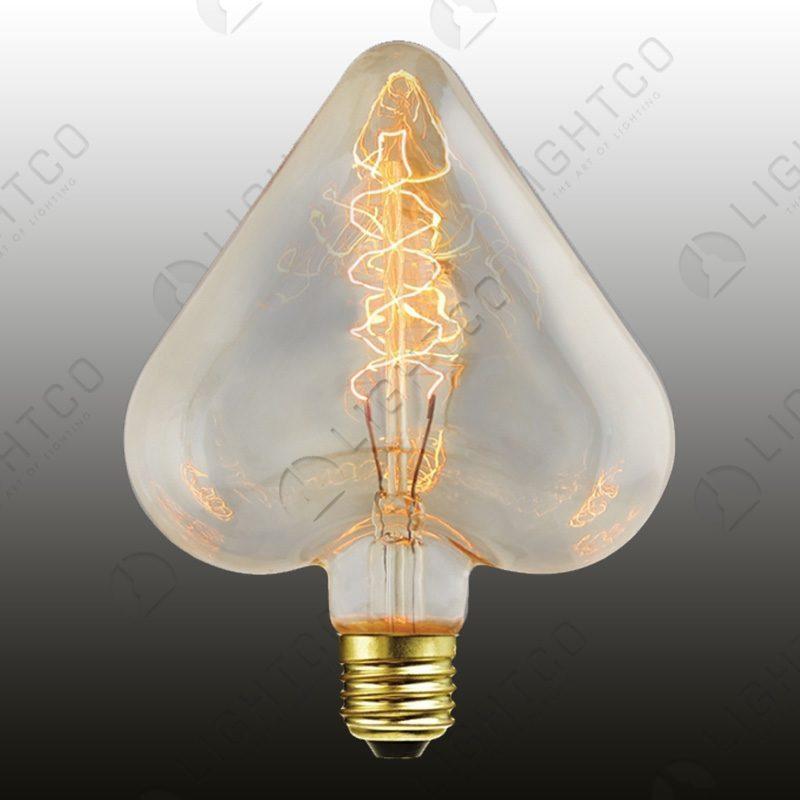 FILAMENT LAMP 40W ES HEART SPIRAL