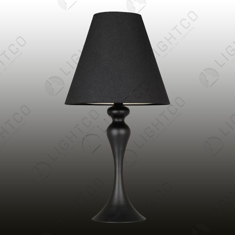 TABLE LAMP CURVED AND SHADE
