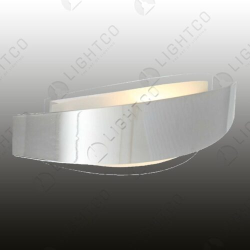 WALL LIGHT CURVED CHROME STRIP