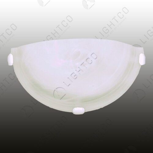 WALL LIGHT HALF ROUND WHITE CLIPS