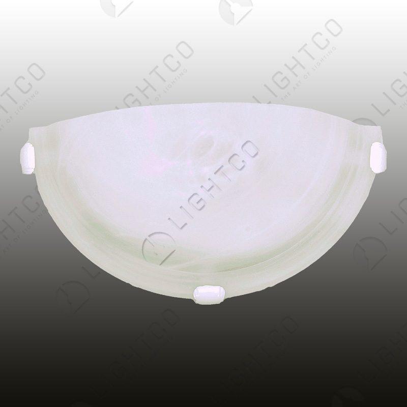 WALL LIGHT HALF ROUND WHITE CLIPS