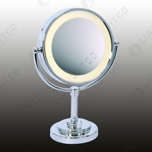 TABLE LAMP LED MIRROR (4 X A4 BATTERIES)