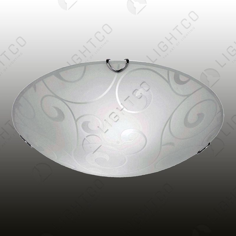 CEILING LIGHT CURL PATTERNED GLASS LARGE