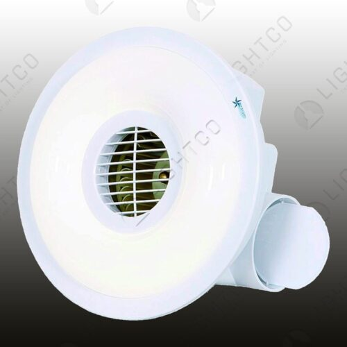 EXTRACTOR FAN ROUND WITH LIGHT