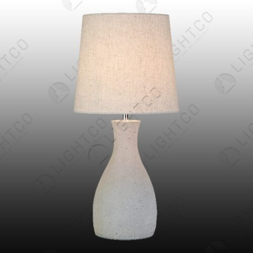 TABLE LAMP TAPERED CEMENT WITH SHADE
