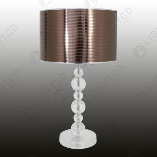 TABLE LAMP WITH ACRYLIC ORBS WITH SHADE