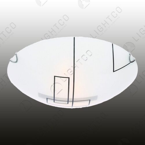CEILING LIGHT PATTERNED GLASS LARGE