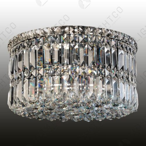 CEILING LIGHT ROUND COMPLETE WITH CRYSTALS