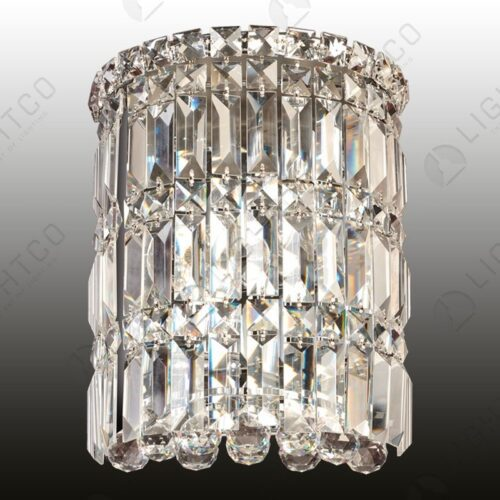 WALL LIGHT CRYSTAL LARGE HALF ROUND