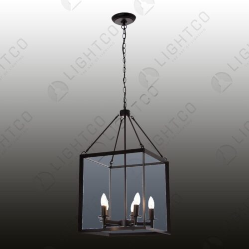 PENDANT SQUARE 4 LIGHT WITH NO GLASS