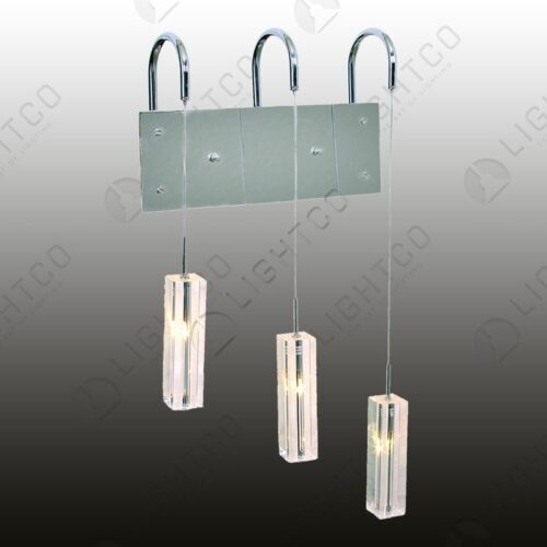 WALL LIGHT TRIPLE HANGING GLASS