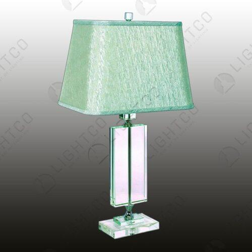 TABLE LAMP ACRYLIC + CREAM SHADE