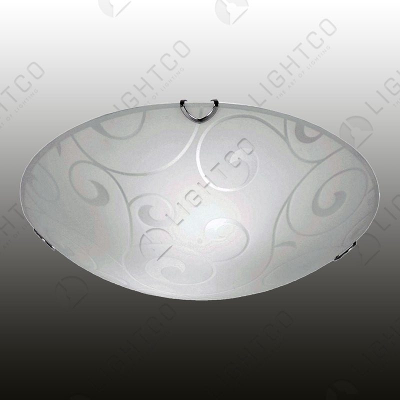 CEILING LIGHT CURL PATTERNED GLASS SMALL